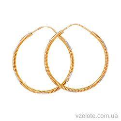 Золотые серьги-кольца Пружинки (арт. 301180)