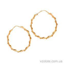 Золотые серьги-кольца Завиток (арт. 323180)