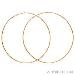 Золотые серьги-кольца (арт. 22001100)
