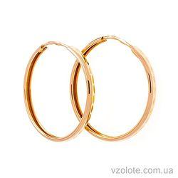 Золотые серьги-кольца (арт. 26000200)