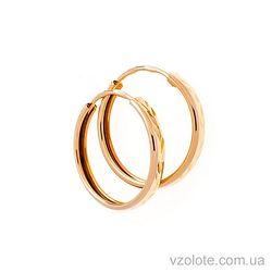 Золотые серьги-кольца (арт. 26000100)