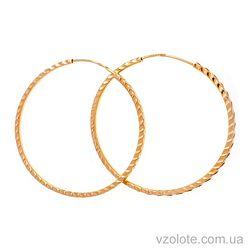 Золотые серьги-кольца с огранкой (арт. С001-4)