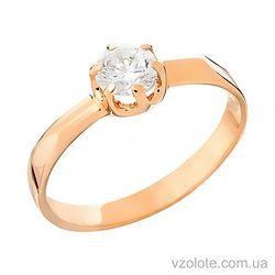 Золотое кольцо с фианитом (арт. 140234)