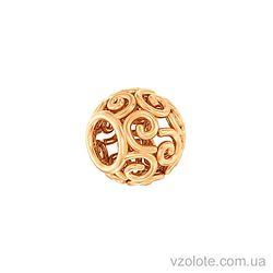 Золотой кулон-шарм Бусинка (арт. 440389)