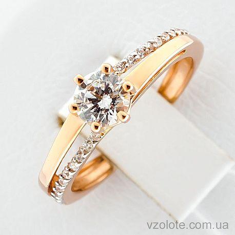 Золотое кольцо с фианитами (арт. 1101504101)