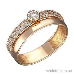 Золотое кольцо Лоретта с фианитами (арт. 1104264101)