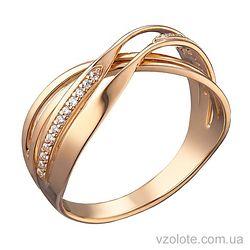 Золотое кольцо Янина с фианитами (арт. 1104749101)