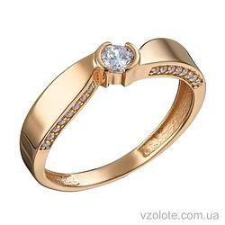 Золотое кольцо Флора с фианитами (арт. 1105234101)
