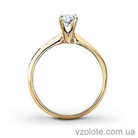 Золотое помолвочное кольцо с бриллиантом Victoria (арт. EKDG2)