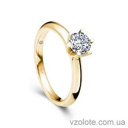 Золотое помолвочное кольцо с бриллиантом Diana (арт. EKDG3) 3/3
