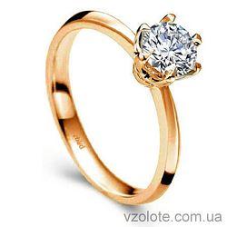 Золотое помолвочное кольцо с бриллиантом The speсial one (арт. ERDH84) 3/3