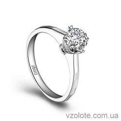 Золотое помолвочное кольцо с бриллиантом Eternity (арт. ERDC75) 3/3