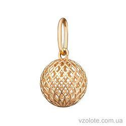 Золотой подвес Объемный шар (арт. 3004423101)