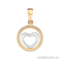 Золотой подвес Сердечко (арт. 3004651112)