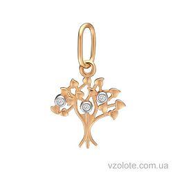 Золотой подвес Дерево жизни с фианитами (арт. 3104980101)