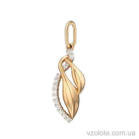 Золотой подвес Ия с фианитом (арт. 3191282101)