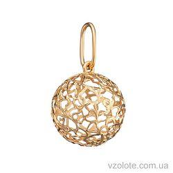 Золотой подвес Сердца в шаре (арт. 3004424101)