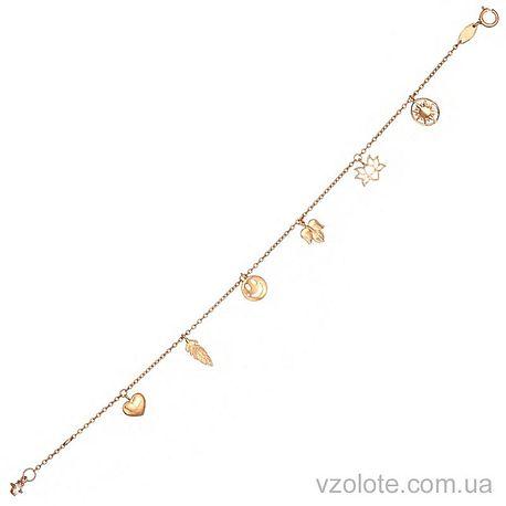 Золотой браслет с подвесками (арт. 4214884101)