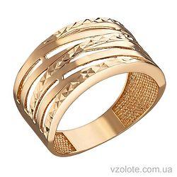 Золотое кольцо с алмазной огранкой (арт. 1091321101)