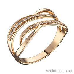Золотое кольцо с фианитами Белла (арт. 1104593101)