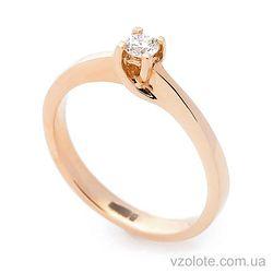 Золотое помолвочное кольцо с бриллиантом (арт. кб0154)