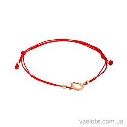Браслет красная нить с золотым сердечком (арт. 4213675101)