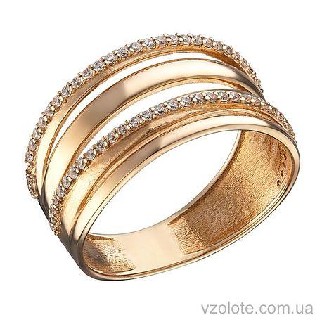 Золотое кольцо с фианитами Илона (арт. 1104636101)