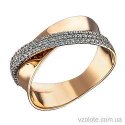 Золотое кольцо с фианитами Каре (арт. 1104637112)