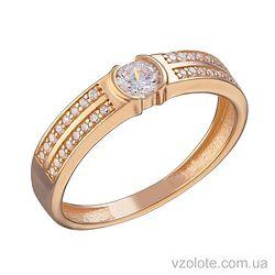 Золотое кольцо с фианитами Сати (арт. 1105233101)