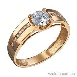 Золотое кольцо с фианитами Эля (арт. 1105235101)