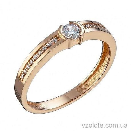 Золотое кольцо с фианитами Ким (арт. 1105236101)