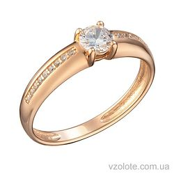 Золотое кольцо с фианитами Анри (арт. 1105245101)
