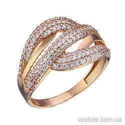 Золотое кольцо с фианитами Рия (арт. 1105374101)