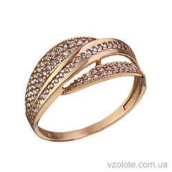Золотое кольцо с фианитами Лилу (арт. 1105377101)