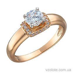 Золотое кольцо с фианитами Рэй (арт. 1191088101)