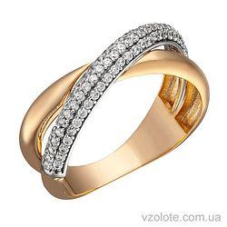 Золотое кольцо с фианитами Иса (арт. 1191274101)