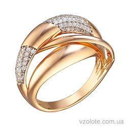 Золотое кольцо с фианитами Луна (арт. 1191276101)