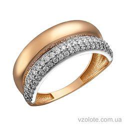 Золотое кольцо с фианитами Тека (арт. 1191279101)