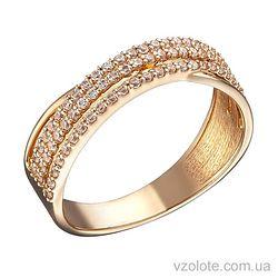 Золотое кольцо с фианитами Рики (арт. 1191292101)