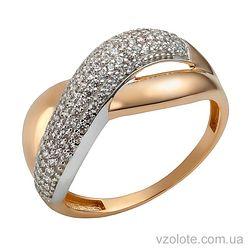 Золотое кольцо с фианитами Сия (арт. 1191295112)