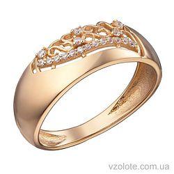 Золотое кольцо с фианитами Мира (арт. 1191305101)