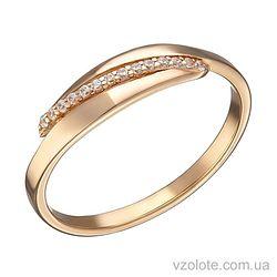 Золотое кольцо с фианитами Тоя (арт. 1191306101)