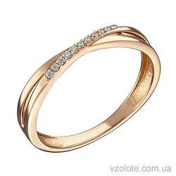 Золотое кольцо с фианитами Нежность (арт. 1191308101)