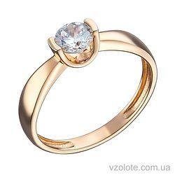 Золотое помолвочное кольцо с фианитом (арт. 1191329101)