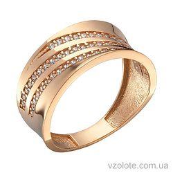 Золотое кольцо с фианитами Селия (арт. 1191353101)