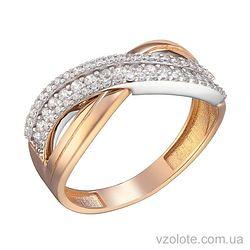 Золотое кольцо с фианитами Мила (арт. 1191355101)