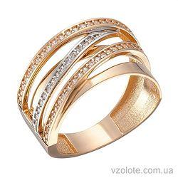 Золотое кольцо с фианитами Лена (арт. 1191357101)