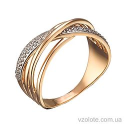 Золотое кольцо с фианитами Виола (арт. 1191424112)