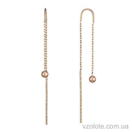 Золотые серьги с бусинами (арт. 2004915101)