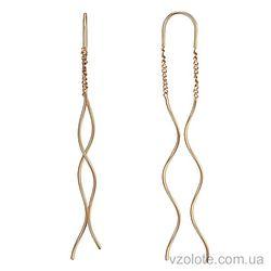 Золотые серьги Спирали (арт. 2004917101)